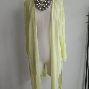 Chico pastel green size 3 long cardigan